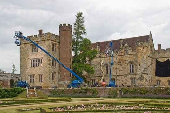 Penshurst Place & Gardens: Under siege by a film crew!...