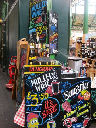 Borough Market: Their mulled wine is delectable