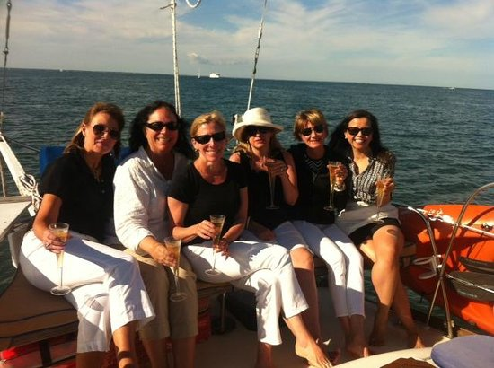 Sea Witch Sailing Charters: Enjoying our sail