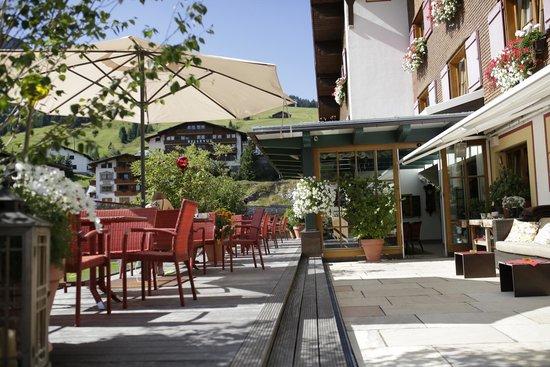 Hotel Austria: Terasse