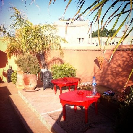 Riad Ma'ab : The calm & comfortable rooftop terrace