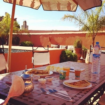 Riad Ma'ab: Delicious rooftop breakfast