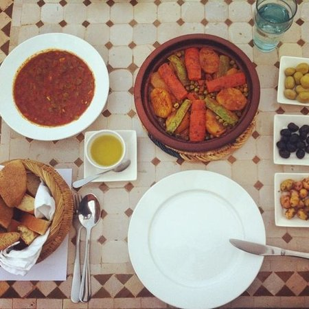 Riad Ma'ab : Dinner on the last night - the best meal I ate in Morocco