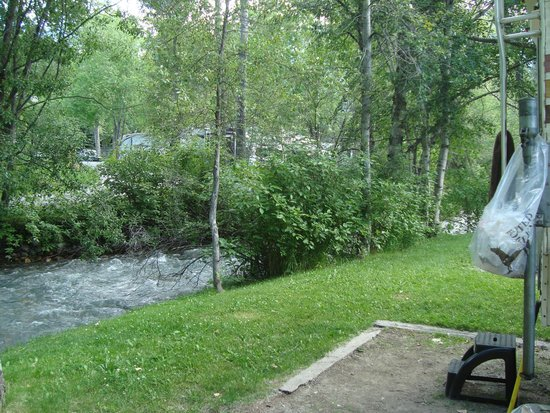 Canyon RV Resort: Small creek behind our site