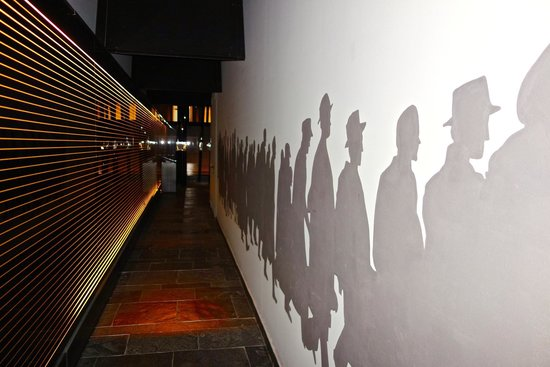 Holocaust Memorial Center: A graphic depiction of the Jews as they went from Hungarian citizens to Nazi and Hungarian victi