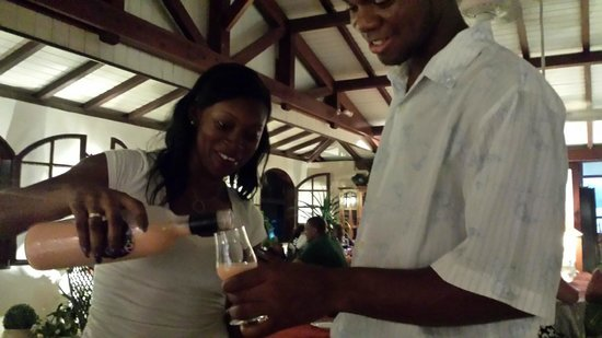 La Villa Restaurant: Rachelle & Jean-Carlo joining us for an after dinner nip...
