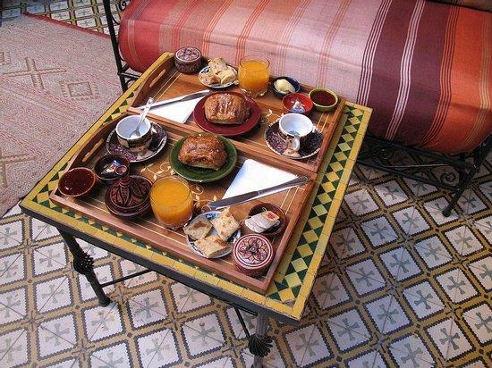 Riad Dar Tamlil : Petit-déjeuner.