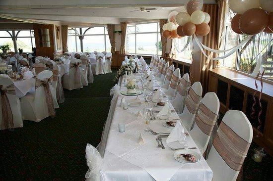 North Foreland Golf Club Restaurant Top Table Wedding Decorations