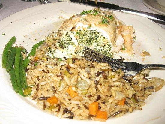 Seminole Gulf Railway Murder Mystery Dinner Train: Stuffed chicken