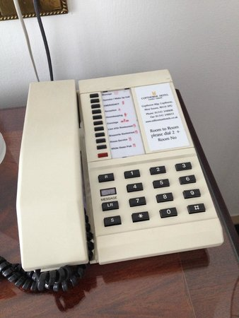 Copthorne Hotel London Gatwick: 30 year old discoloured phone!