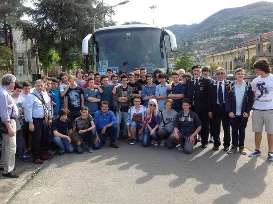 Museo Tecnico Navale della Spezia: gruppo IIS Badoni di Lecco e gruppo ANMI di Brivio