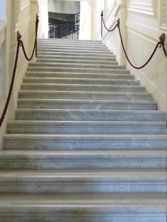 Hotel Nemzeti Budapest - MGallery by Sofitel: marble stair case to rooms