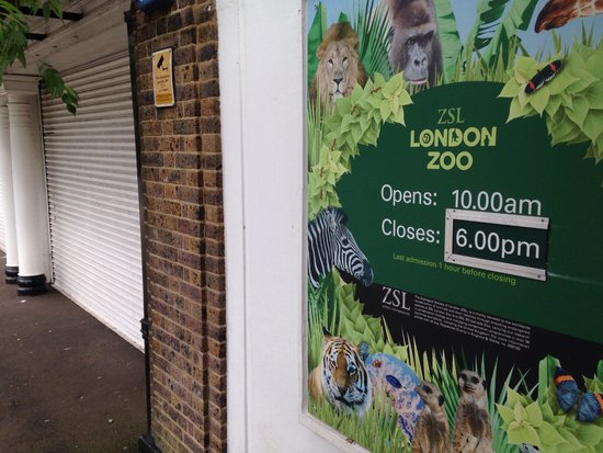 ZSL London Zoo : The closed sign.