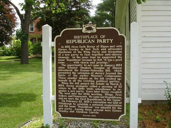 The Little White School House, Birthplace of the Republican Party: A history lesson