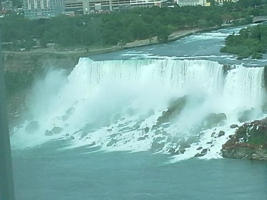 Fallsview Casino Resort: American Falls from 20th floor window ...what a view