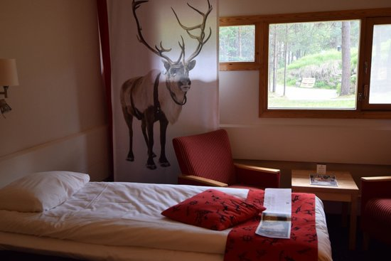 Scandic Karasjok: Our room. You can't miss the reindeer on the curtain.