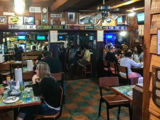 Inside Denny's Beer Barrel Pub