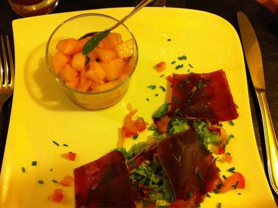 La Petite France : Melon + viande de grison... Humm!!