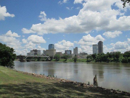 Downtown Little Rock along the Arkansas River Trail