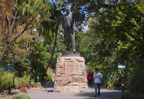 Company's Gardens: Rhodes statue