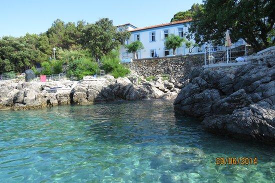 Drazica Hotel : Kristálytiszta víz