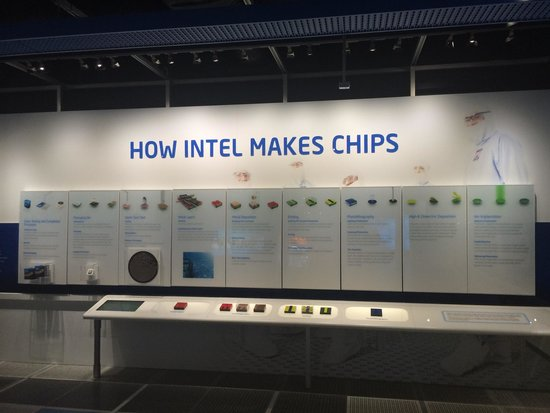 Intel Corp and Museum: Chip making process