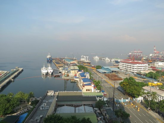 The Manila Hotel: The Manila docks--view from our room