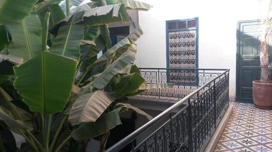 Riad Aloes: vista de las habitaciones de la primera planta