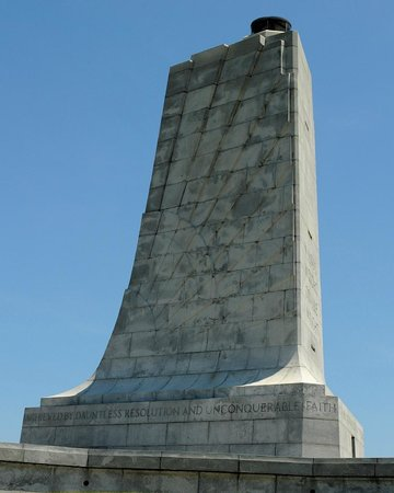 Wright Brothers National Memorial: Wright Brothers Memorial, left face