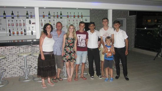 Konakli Nergis Butik Hotel: Fantastic staff ( not sure how the little lad got into our photo ?
