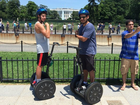 Private DC Segway Tours: Mike & Gabe in front of the White House