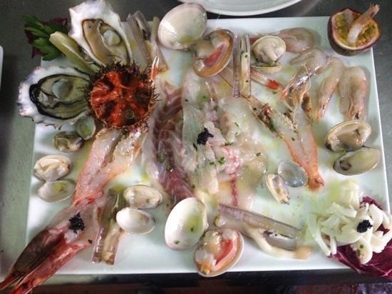 Castrocielo, Italia: crudo di mare