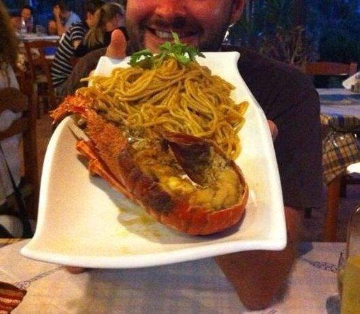Elafonisi Resort by Kalomirakis Family : Astice spaghetti!!!