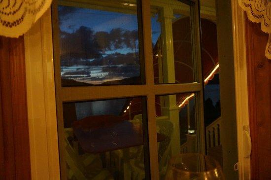 Restaurant la fjordelaise: Sunset from the window