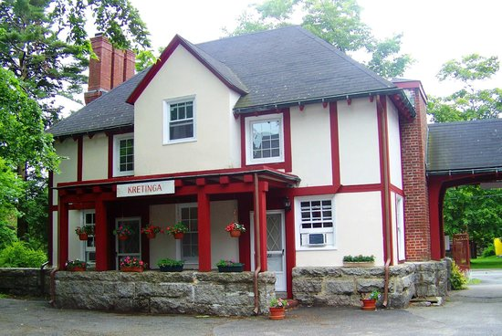Franciscan Guest House : The Tudor style buildings were converted from stables, hayloft and groundskeepers quarters.