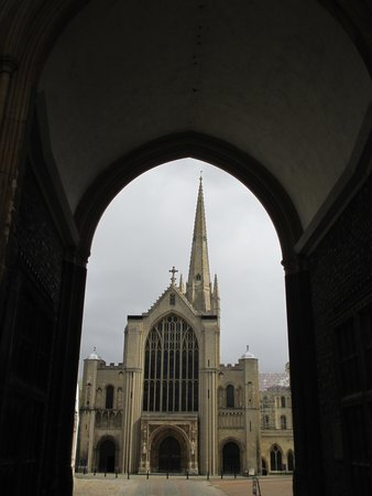 Norwich Cathedral: View from the gate