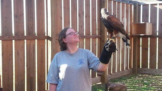 Cheney, KS: Myself holding the Harris Hawk
