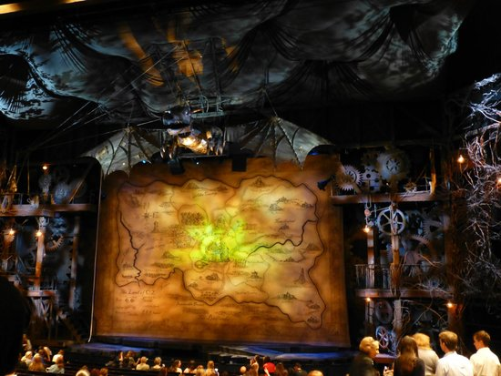 Wicked Stage before the show