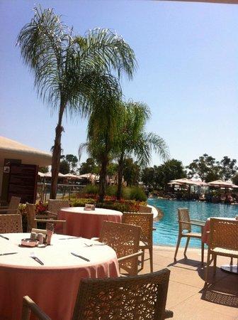 Cornelia Diamond Golf Resort & Spa: view from lunch al fresco