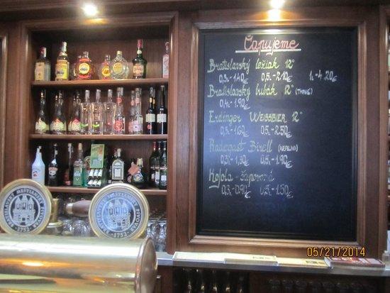 Bratislavsky Mestiansky pivovar: Great beer and good prices.