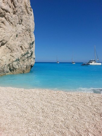 Plage de Navagio : A rare moment without lots of people