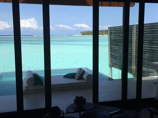 Niyama Private Islands Maldives: View from our Water Studio room. Was great for us as a couple on our honeymoon.