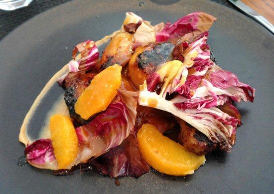 Arsenic Restaurant : coquelet,orange te cumin