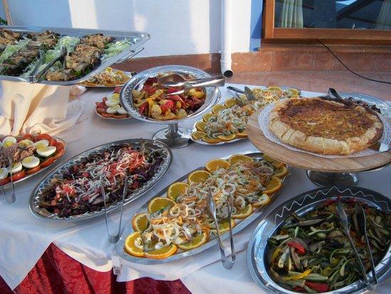 Hotel Pedraladda : Das Vorspeisenbuffet
