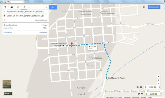 Hotel Santos de Piedra: Wrongly indicated on google maps. It is 4 km from Barichara not as google indicates 700 m.