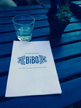 Bibo : fresh spring water with a fresh menu