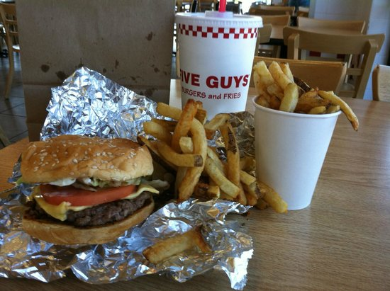 Five Guys This Is A Little Burger And Little Fries
