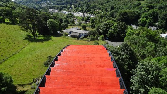 View from the top of The Laxey Wheel