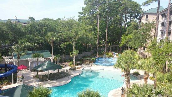 Marriott's Barony Beach Club : Garden pool from our Balcony
