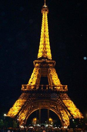 Tour Eiffel : La torre de noche!